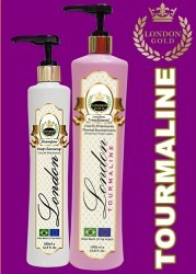 London Gold - Tourmaline - Kit Escova Progressiva de Turmalina - Shampoo 500ml + Gloss 1L