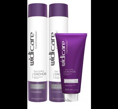 Widi Care - Cacheadas - Full Curls - Home Care - Shampoo 300ml + Condicionador 300ml + Leave in 200ml