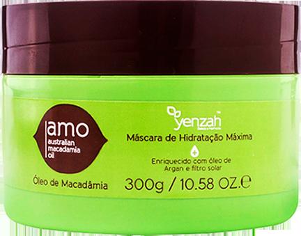 Yenzah - AMO - Máscara Óleo de Macadâmia e Argan Hidratação Máxima Com Filtro Solar - 300g