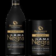 Kit Tratamento Lama Negra Shampoo e Máscara Benouver Profissional 2 produtos