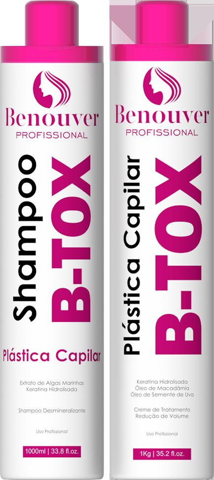 Kit Progressiva Plástica Capilar B-Tox 2 Itens Benouver Porfissional
