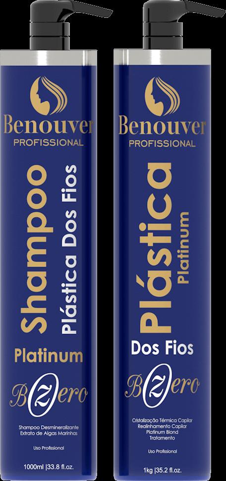 Kit Progressiva Plástica Dos Fios Bzero Platinum - 2 Itens - Benouver Profissional