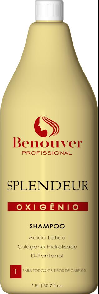 Shampoo Clinic Splendeur Tratamento intensivo Benouver Profissional 1500ml
