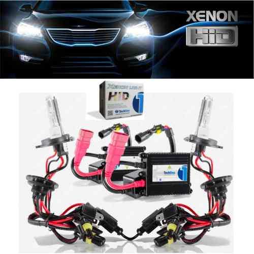 Kit Xenon Carro Tech One 8000k Lampada H1 H3 H4-2 H7 Hb4 H11 H16
