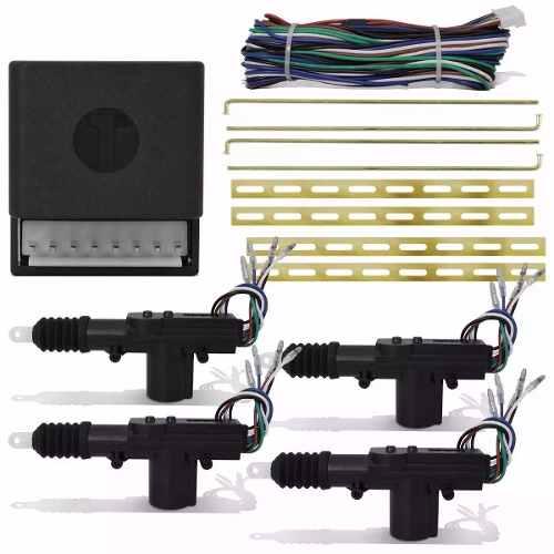 Kit Trava Eletrica Universal 4 Portas Dupla Serventia Carros Techone