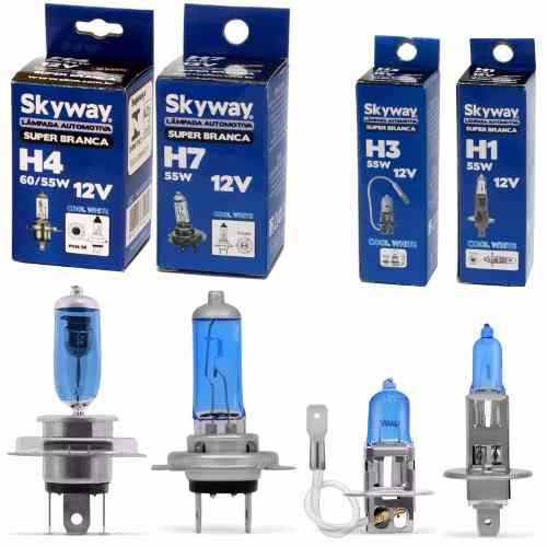 Lampada 4200k Super Branca Skyway H4 H7 H3 H1 Inmetro - Unitário