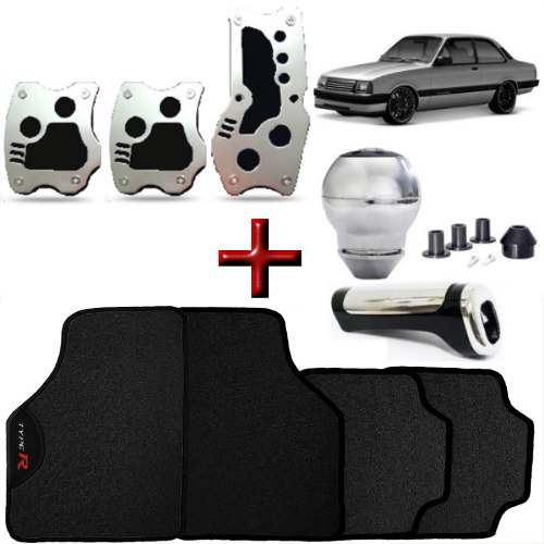 Kit Tuning Chevette Tapete Type R Pedaleiras Manopla Cambio