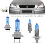 Kit Lampadas Astra 98 99 2000 2001 2002 Super Brancas Farol Baixo H7 Alto H1 - Techone 8500k 12v 55w Inmetro