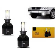 Kit Lâmpadas Farol Milha Auxiliar Polo Hatch Sedan 2002 2003 2004 2005 2006 Super Branca Led H3 Code Techone 6000k 7800l
