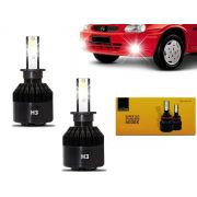 Kit Lâmpadas Farol Milha Corsa Hatch Sedan 94 95 96 97 98 99 2000 2001 2002 Super Branca Led H3 Code Techone 6000k 7800l