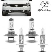 Kit Lampadas Golf 2008 2009 2010 2011 2012 2013 Techone H7 H1