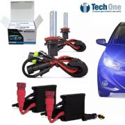 Kit Xenon Carro Tech One 8000k Lampada H1 H3 H4-2 H7 Hb4 H11 H16