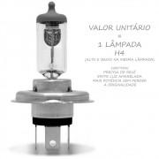 Lampada H4 100w 12v Comum Mais Potencia Cor da Luz Original