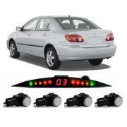 Sensor De Ré Estacionamento Corolla 2003 2004 2005 2006 2007 - Embutido Oem Padrão Liso Original - Techone