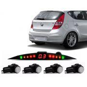 Sensor De Ré Estacionamento Hyundai i30 2009 2010 2011 2012 - Embutido Oem Liso Padrão Original - Techone