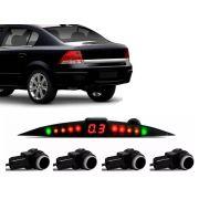 Sensor De Ré Estacionamento Vectra Elegance Expression 2006 2007 2008 2009 2010 2011 2012 - Embutido Oem Liso - Techone