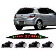 Sensor De Ré Estacionamento Vectra GT GTX 2006 2007 2008 2009 2010 2011 2012 - Embutido Oem Padrão Liso - Techone