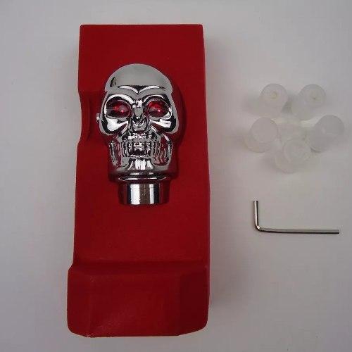 Manopla Bola De Cambio Tuning Caveira Skull Cromada Led Neon