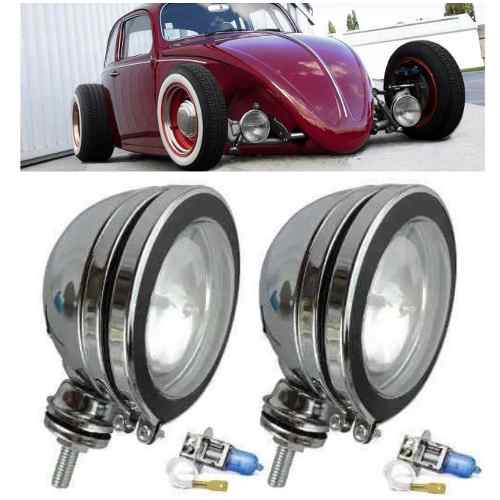 Par Farol De Milha Off Road 4x4 5 Fusca Hot Rod German Look
