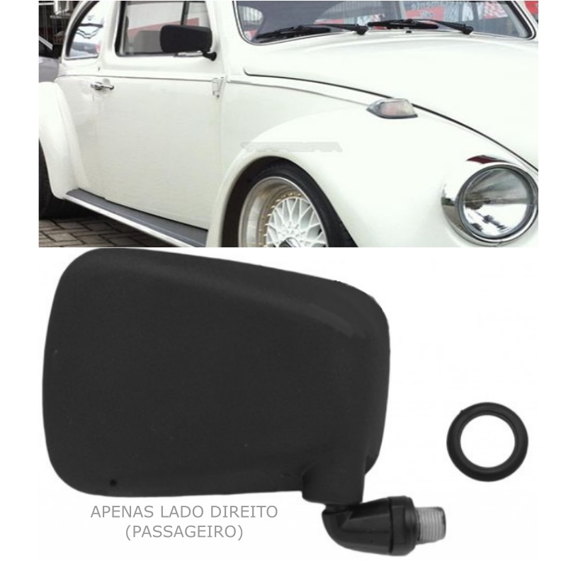 Espelho Retrovisor Fusca 79 a 96 Pé de Ferro Modelo Original - Lado DIREITO