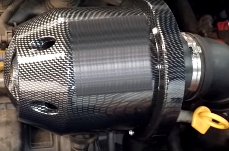 Filtro de Ar Monster Esportivo Carbono Turbo Grande 18cm Altura