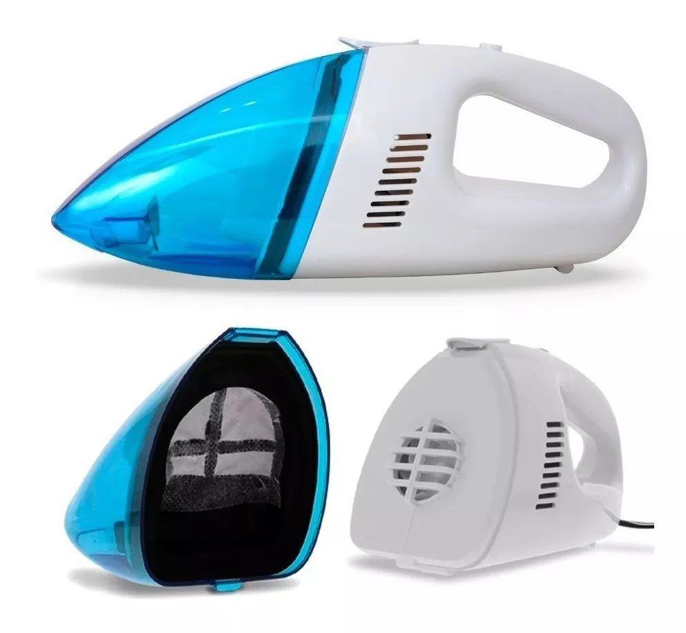 Kit Emergência Carro: Mini Compressor de Ar 300 PSI Encher Pneu + Aspirador de Pó Portátil 60w P/ Limpeza Automotiva