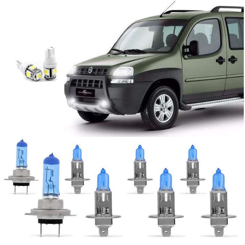 Kit Lampadas Doblo Adventure 2003 2004 2005 2006 2007 2008 2009 Super Brancas