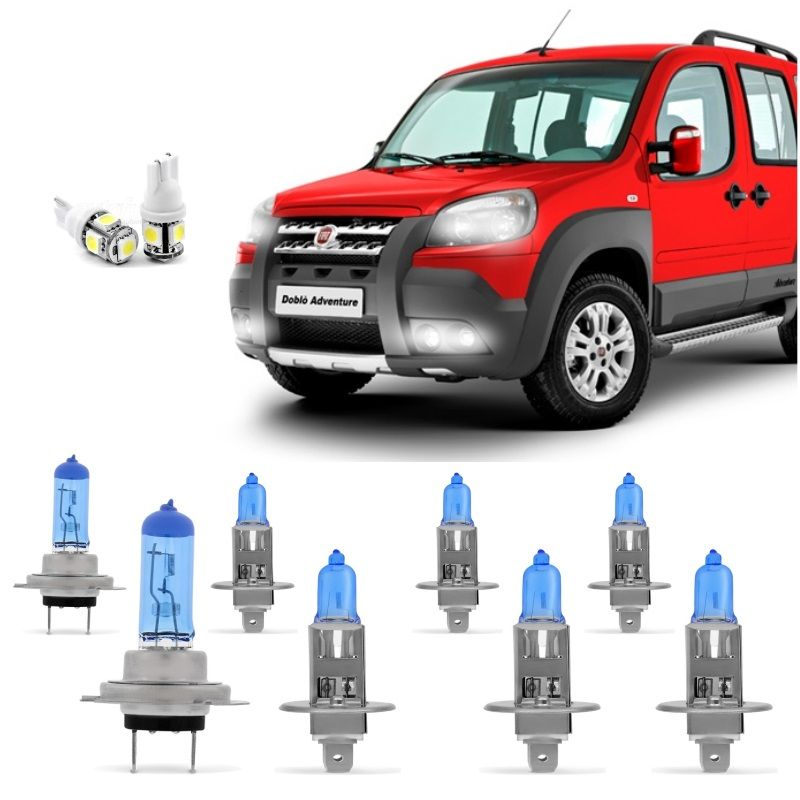 Kit Lampadas Doblo Adventure 2010 2011 2012 2013 2014 2015 2016 Super Brancas
