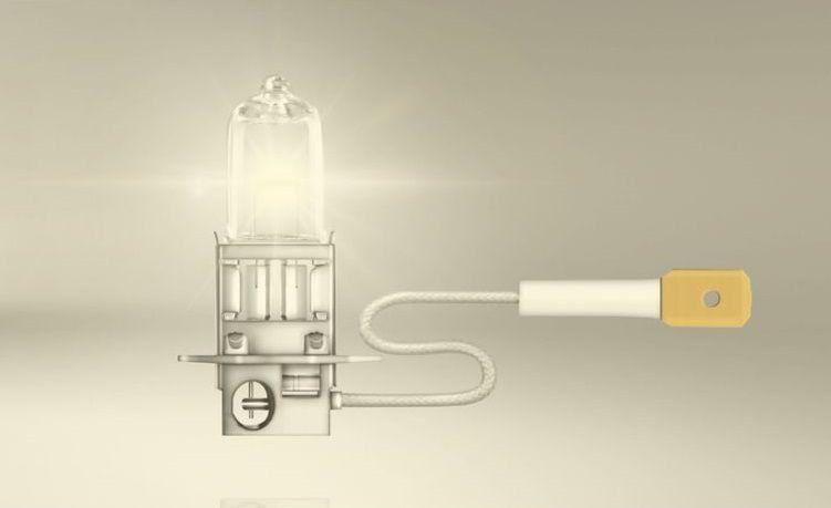 Kit Lampadas H3 100w 12v Luz Mais Forte P/ Farol de Milha Cor Original Transparente Halogena + Rele Duplo 500w
