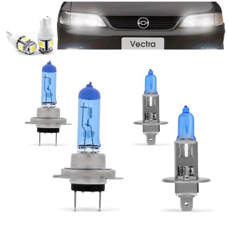 Kit Lampadas Vectra 97 98 99 Super Brancas 100w Farol H7 H1 - Techone 8500k 12v Inmetro
