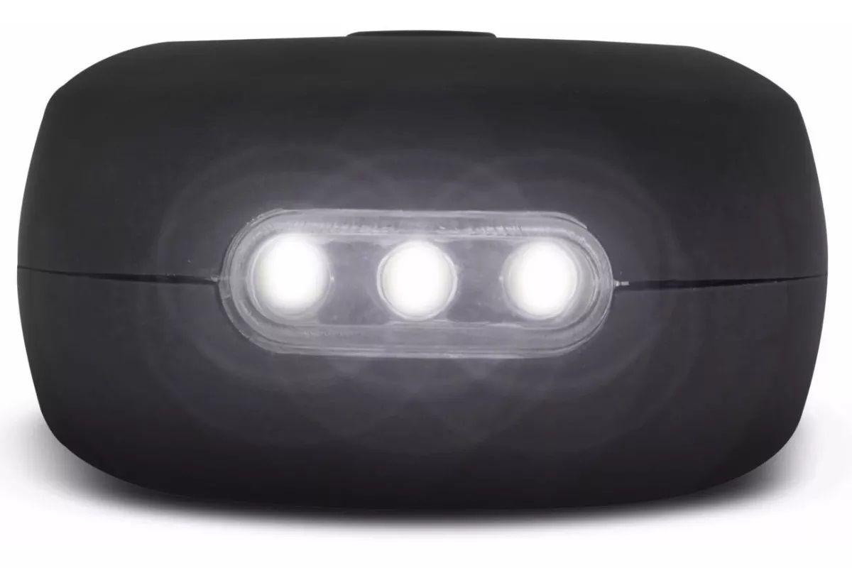 Kit Lanterna P/ Mecânico Emergência Camping: Oval 27 Leds 6000k + Caneta 8 Leds 7000k - Compacta c/ Imã E Gancho - Osram