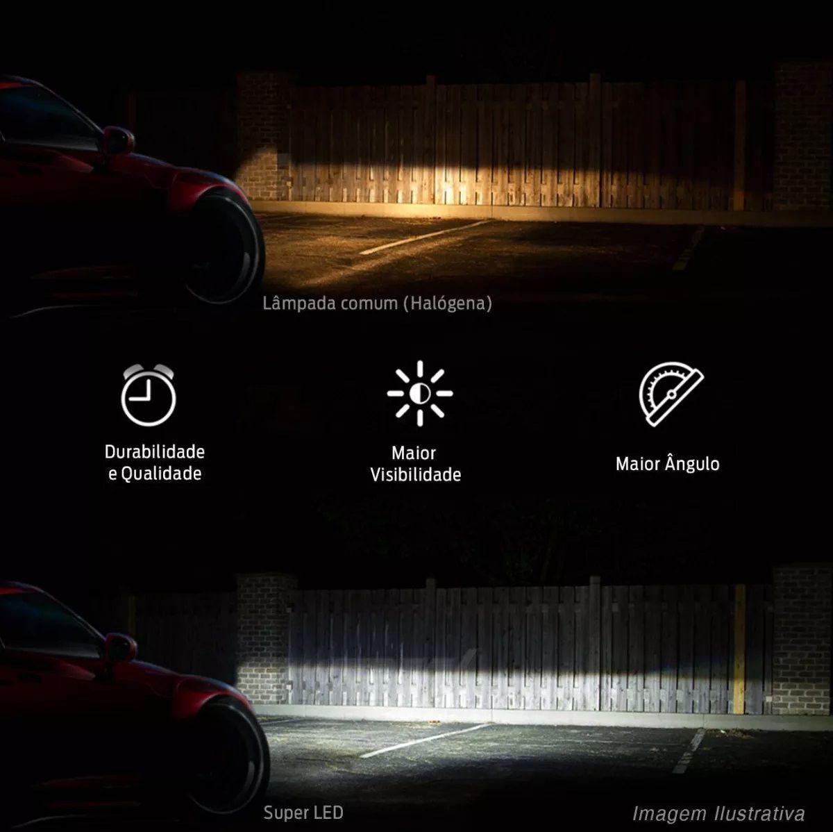Kit Lâmpadas LED COB Farol Milha Neblina H4 6000k Gol Rallye Saveiro Cross G5 G6 G7 Crossfox Techone 6000 lumens 12/24v