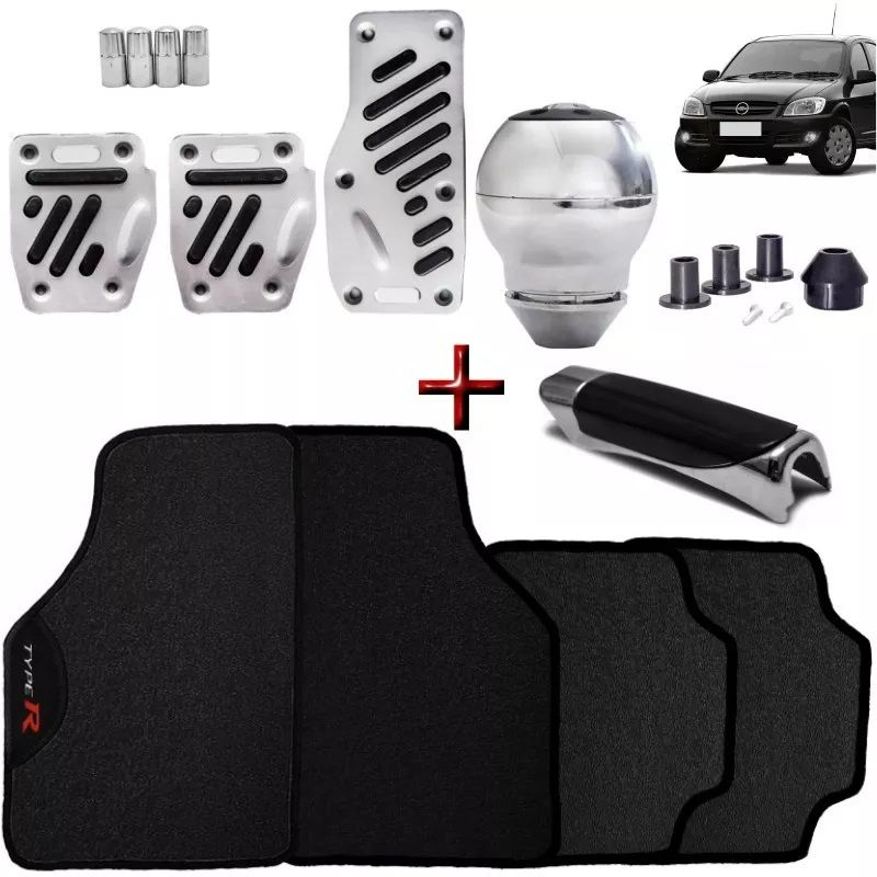 Kit Tuning Celta Prisma Tapete Type R Pedaleiras Manoplas