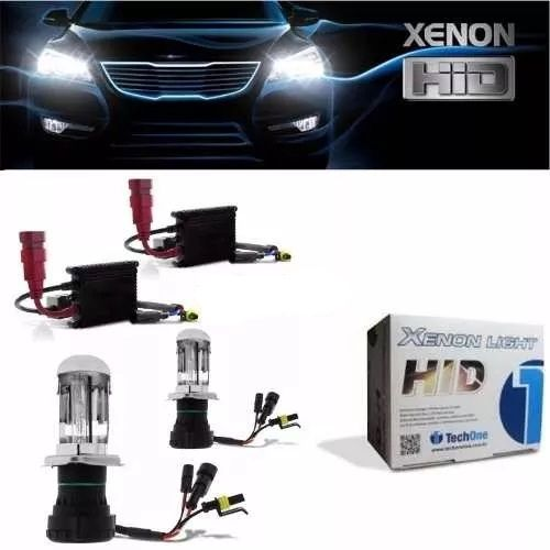 Kit Xenon Bi Xenon Hid 6000k 8000k H4-3 Tech One Completo