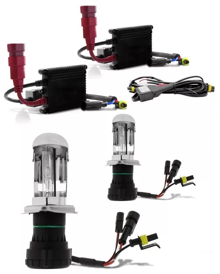 Kit Xenon Gol Quadrado G1 Bola G2 G3 G4 8000k Farol H4-3 Milha H3