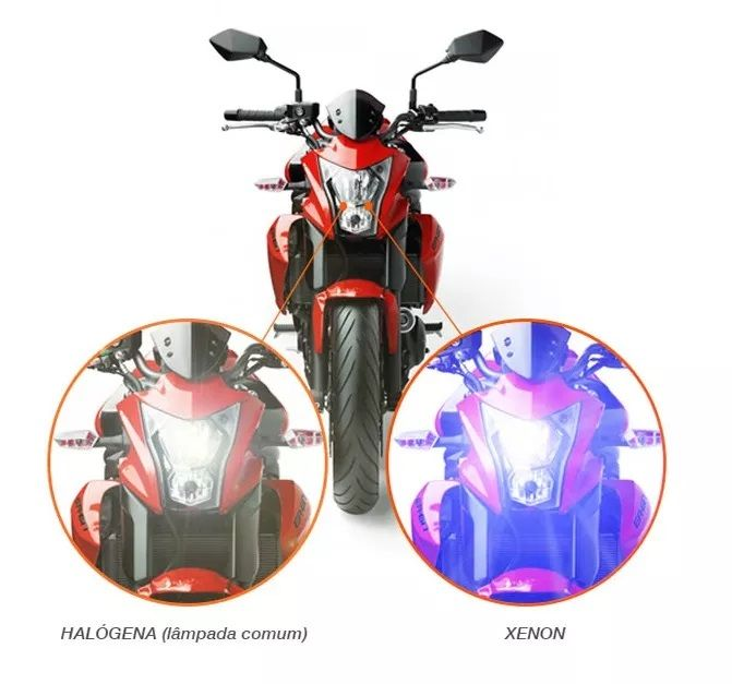 Kit Xenon Moto Reator Slim Digital 8000k H4-2
