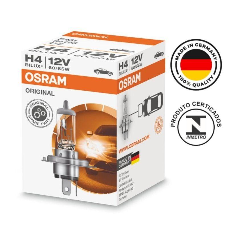 Lampada H4 Bilux Osram 12v 60/55w 64193 Made in Germany
