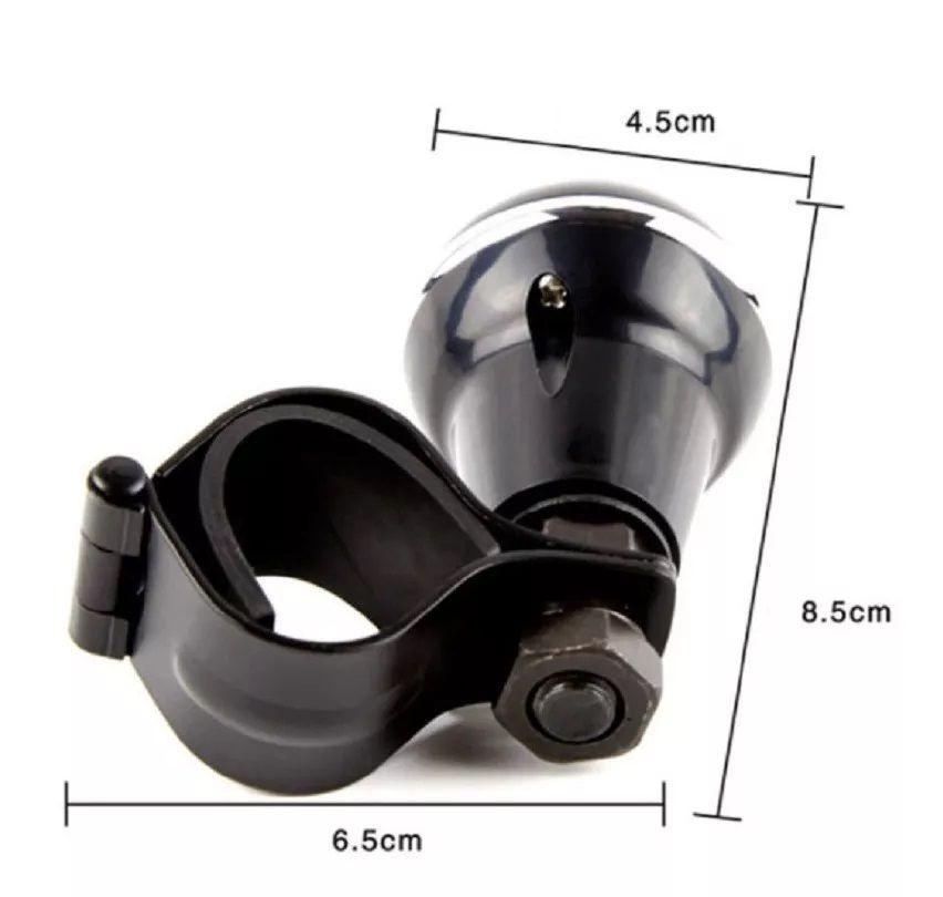 Manopla De Volante Pomo Giratório - Útil Isenção PCD Manobras Balizas de Carros Caminhões Empilhadeiras - Encaixe 3,5 cm Diâmetro