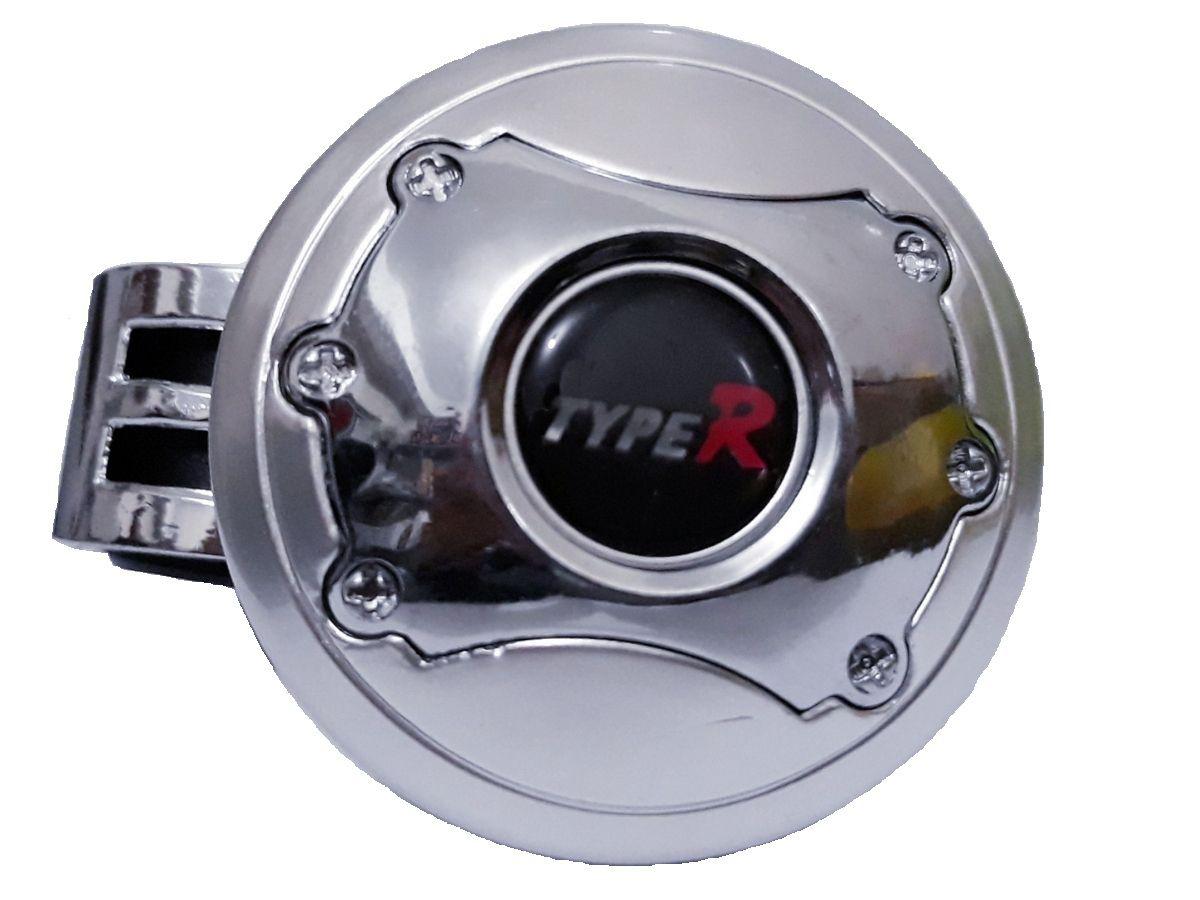 Manopla De Volante Para Deficiente E Manobras Cromada Type R Encaixe 2,5 Diâmetro - Serve Para Pcd Manobras Empilhadeira