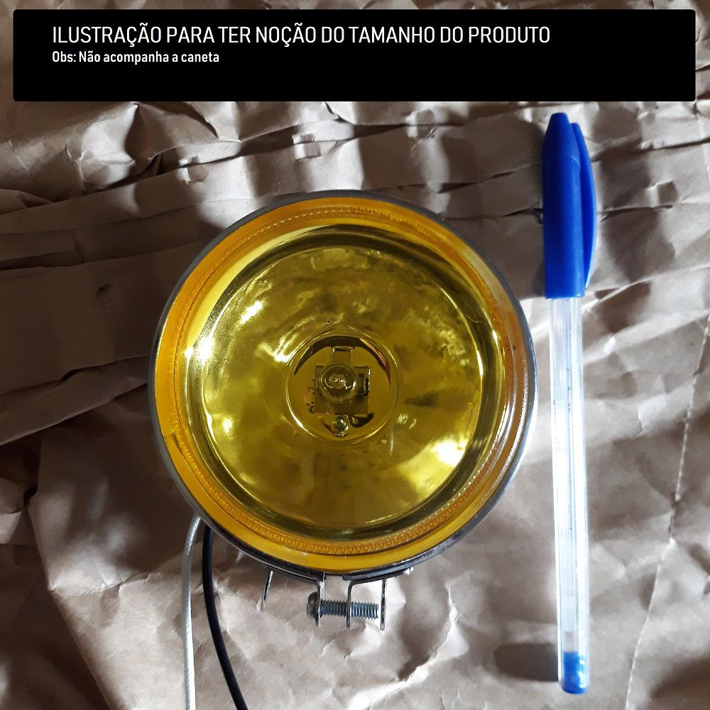 Par Farol De Milha Amarelo Off Road 90mm Universal
