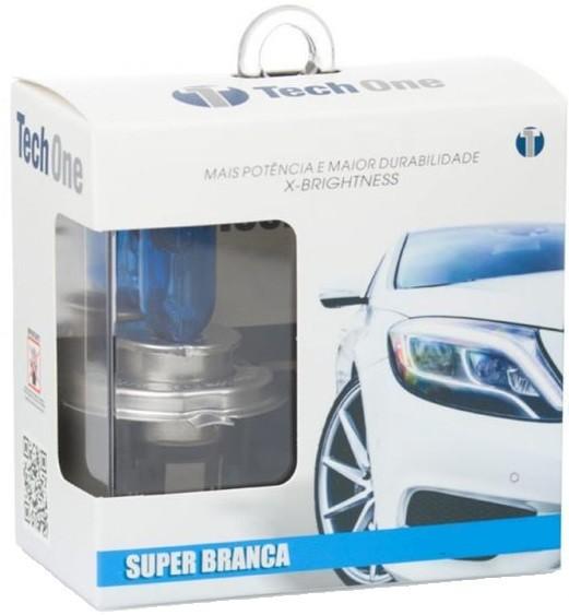Par Lampadas H4 8500K Super Brancas Tech One Inmetro