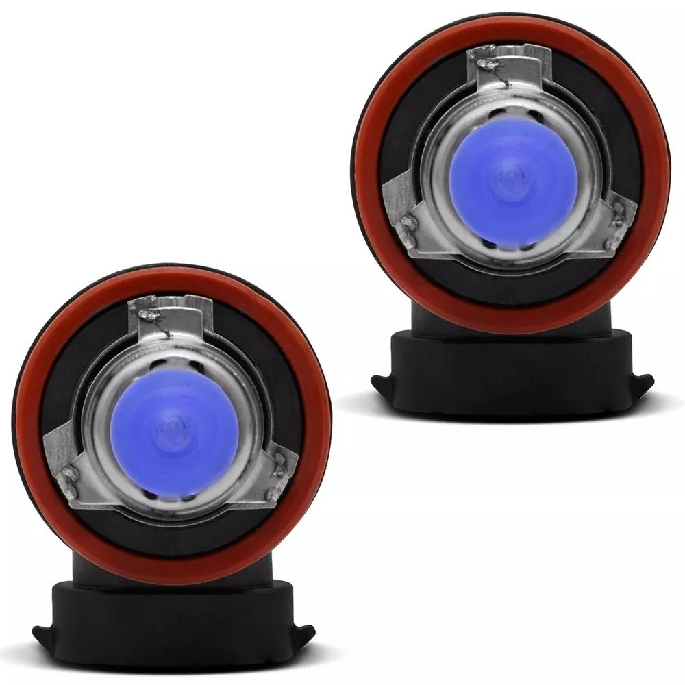 Par Lampadas Milha H8 35w 12v 8500K Super Brancas Tech One Inmetro