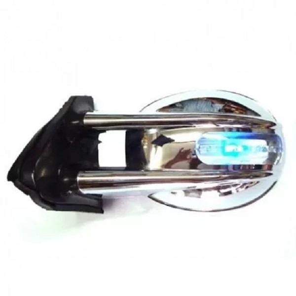 Par Retrovisor Fusca Tuning C/ Pisca Seta e Lanterna Cromado