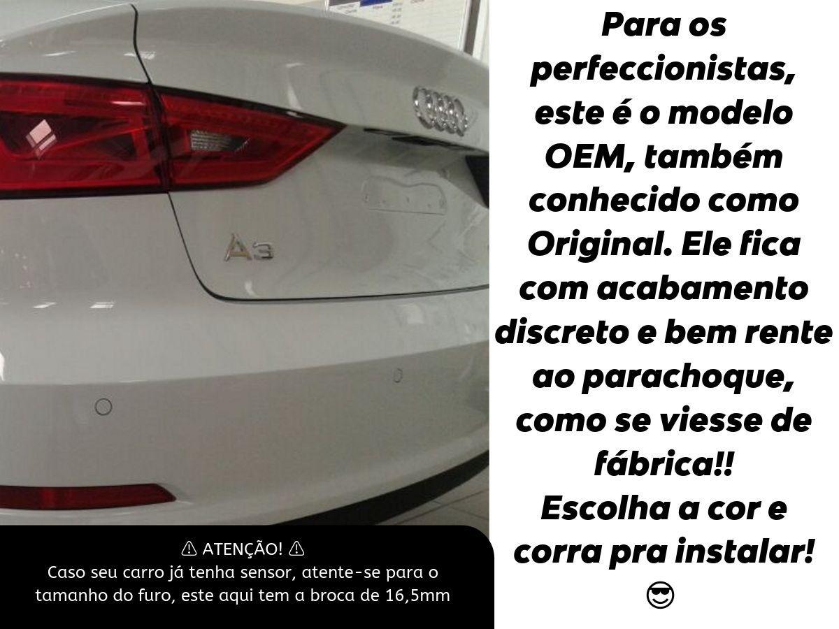 Sensor De Ré Estacionamento Corolla 2008 2009 2010 2011 2012 2013 2014 - Embutido Oem Padrão Liso Original - Techone