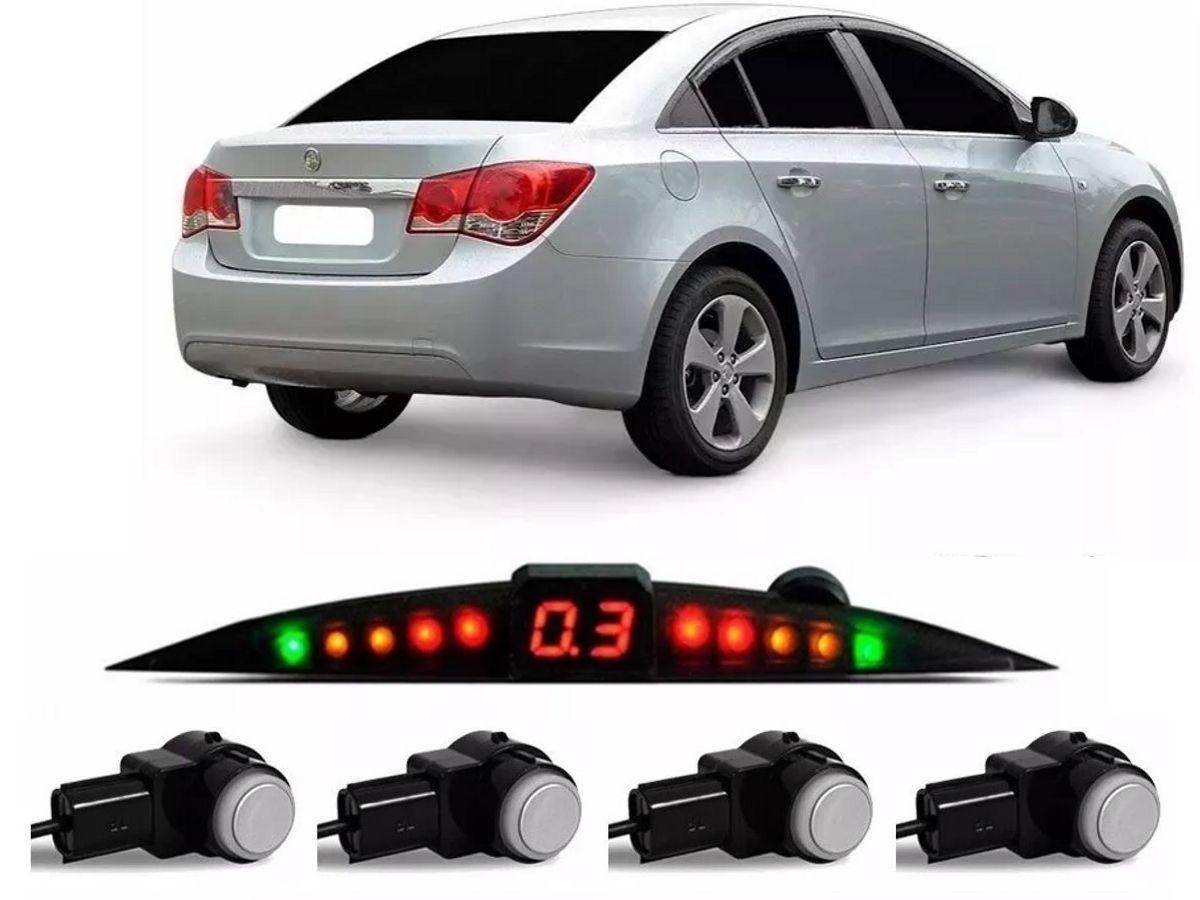 Sensor De Ré Estacionamento Cruze LT Hatch Sedan 2011 2012 2013 2014 2015 2016 - Embutido Oem Padrão Liso - Techone