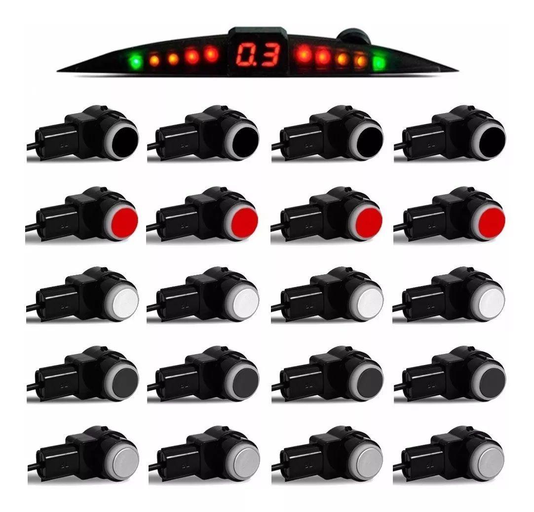 Sensor De Ré Estacionamento Onix LT Joy 2012 2013 2014 2015 2016 2017 2018 2019 - Embutido Oem Padrão Liso - Techone