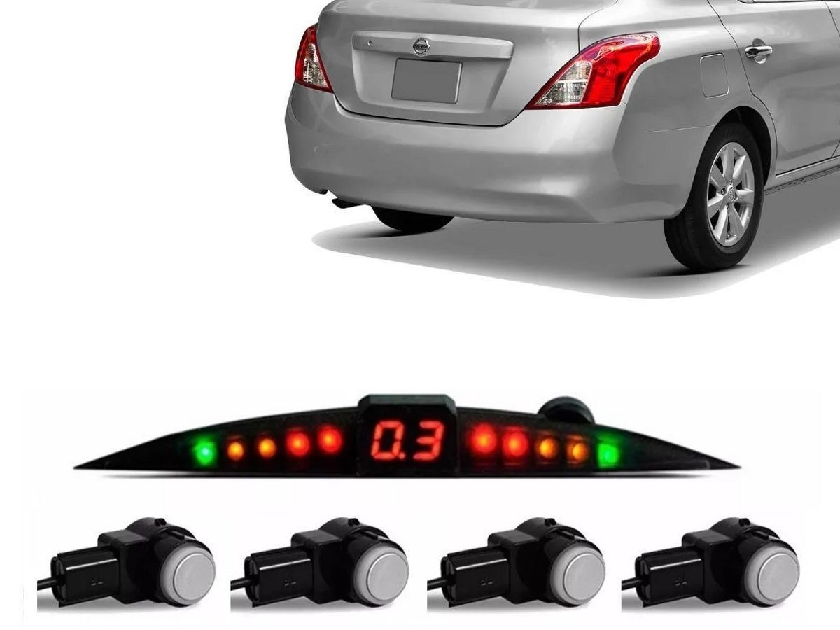 Sensor De Ré Estacionamento Versa 2011 2012 2013 2014 2015 2016 2017 2018 2019 - Embutido Oem Padrão Original - Techone