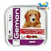 Alimento Úmido Gemon Patê Carne e Fígado para Cães - Monge (150g)