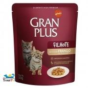 Alimento úmido Gran Plus Sachê Frango para Gatos Filhotes - Guabi (50g)