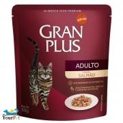 Alimento úmido Gran Plus Sachê Salmão para Gatos Adultos - Guabi (50g)
